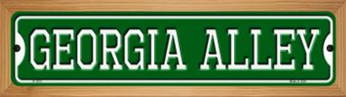 Georgia Alley Novelty Wood Mounted Small Metal Street Sign WB-K-1073