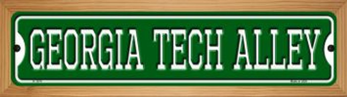 Georgia Tech Alley Novelty Wood Mounted Small Metal Street Sign WB-K-1074
