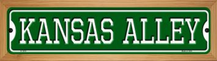 Kansas Alley Novelty Wood Mounted Small Metal Street Sign WB-K-1075