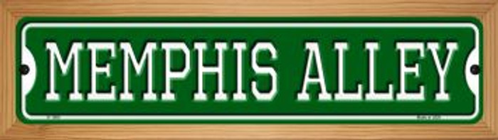 Memphis Alley Novelty Wood Mounted Small Metal Street Sign WB-K-1080