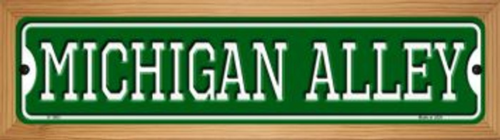 Michigan Alley Novelty Wood Mounted Small Metal Street Sign WB-K-1083