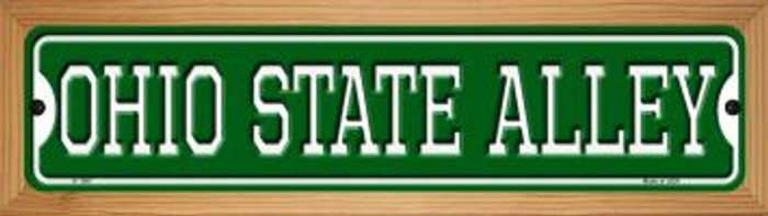 Ohio State Alley Novelty Wood Mounted Small Metal Street Sign WB-K-1087