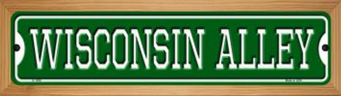 Wisconsin Alley Novelty Wood Mounted Small Metal Street Sign WB-K-1098