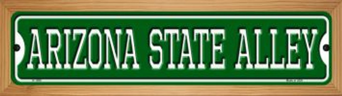Arizona State Alley Novelty Wood Mounted Small Metal Street Sign WB-K-1099