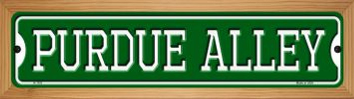 Purdue Alley Novelty Wood Mounted Small Metal Street Sign WB-K-1101