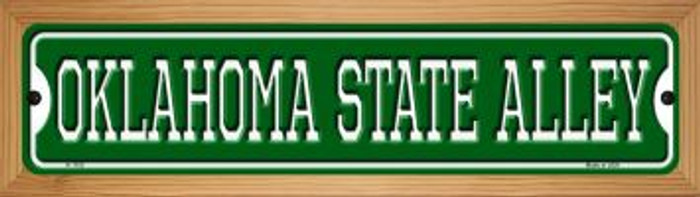 Oklahoma State Alley Novelty Wood Mounted Small Metal Street Sign WB-K-1103