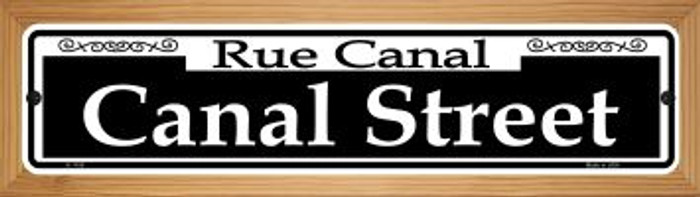 Canal Street Novelty Wood Mounted Small Metal Street Sign WB-K-1108