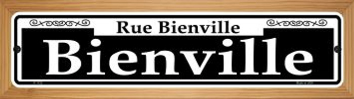 Bienville Novelty Wood Mounted Small Metal Street Sign WB-K-1123