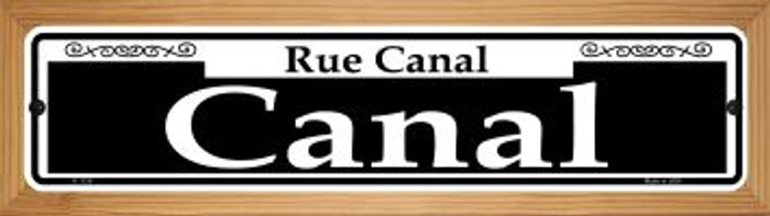 Canal Novelty Wood Mounted Small Metal Street Sign WB-K-1124