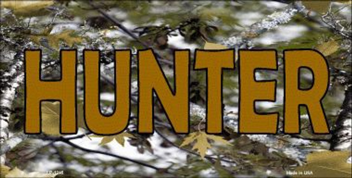 Hunter Camouflage Novelty Metal License Plate