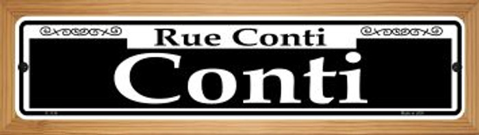 Conti Novelty Wood Mounted Small Metal Street Sign WB-K-1134