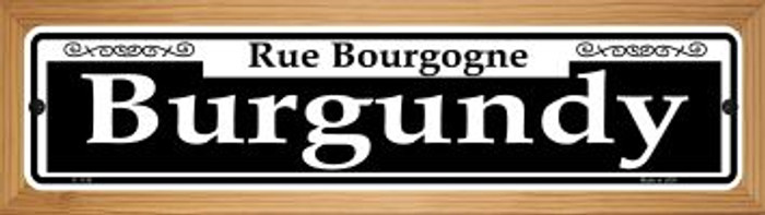 Burgundy Novelty Wood Mounted Small Metal Street Sign WB-K-1138