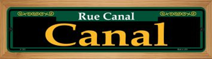 Canal Green Novelty Wood Mounted Small Metal Street Sign WB-K-1203