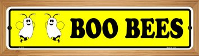 Boo Bees Novelty Wood Mounted Small Metal Street Sign WB-K-1310