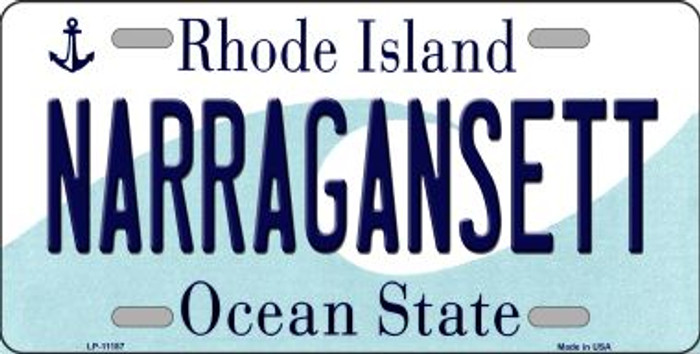 Narragansett Rhode Island Novelty Metal License Plate Tag LP-11187