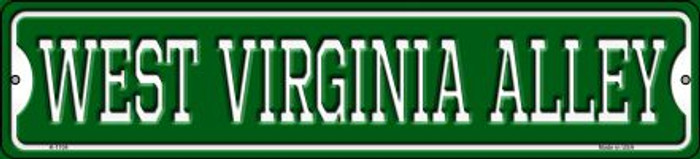 West Virginia Alley Novelty Small Metal Street Sign K-1104