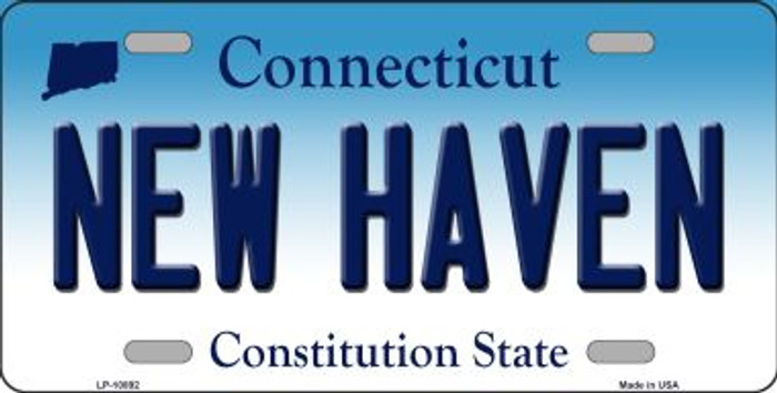 New Haven Connecticut Novelty Metal Vanity License Plate Tag LP-10892