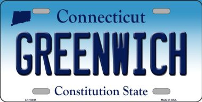 Greenwich Connecticut Novelty Metal Vanity License Plate Tag LP-10895