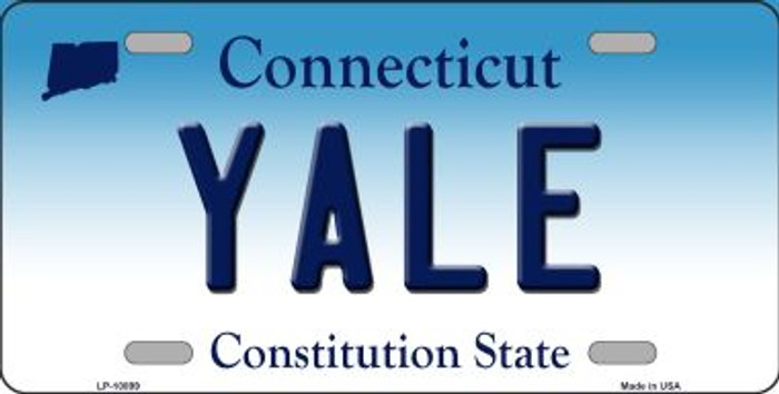 Yale Connecticut Novelty Metal Vanity License Plate Tag LP-10899