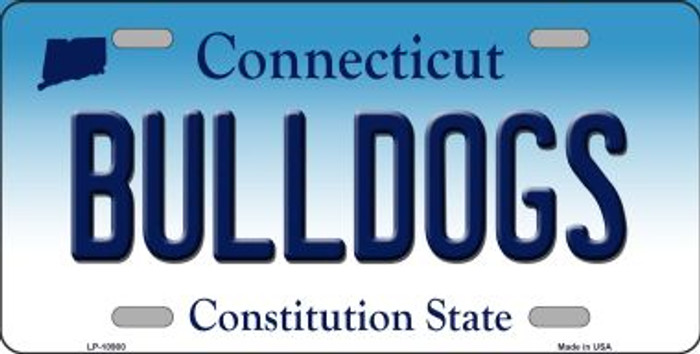 Bulldogs Connecticut Novelty Metal Vanity License Plate Tag LP-10900