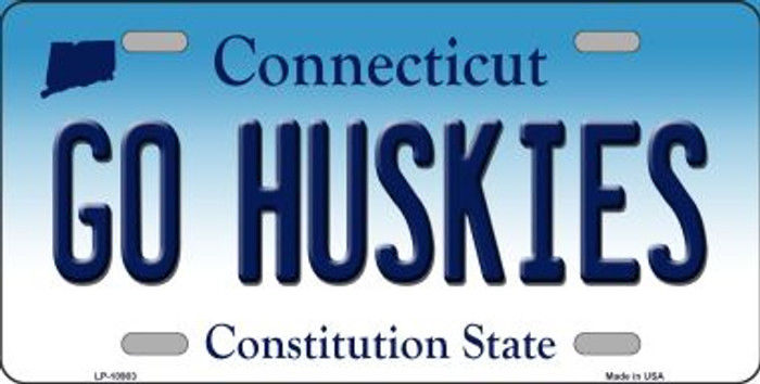 Go Huskies Connecticut Novelty Metal Vanity License Plate Tag LP-10903