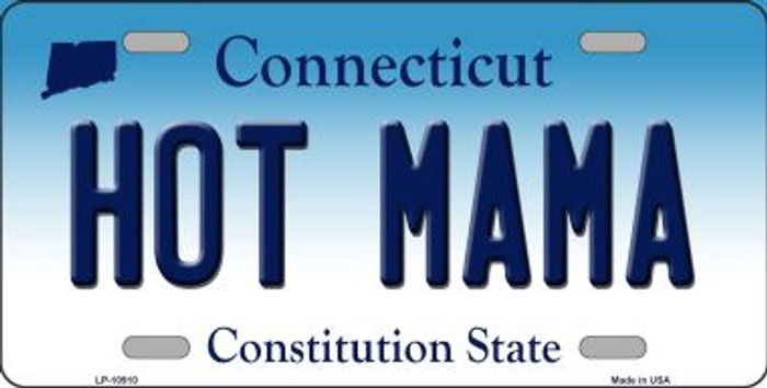 Hot Mama Connecticut Novelty Metal Vanity License Plate Tag LP-10910