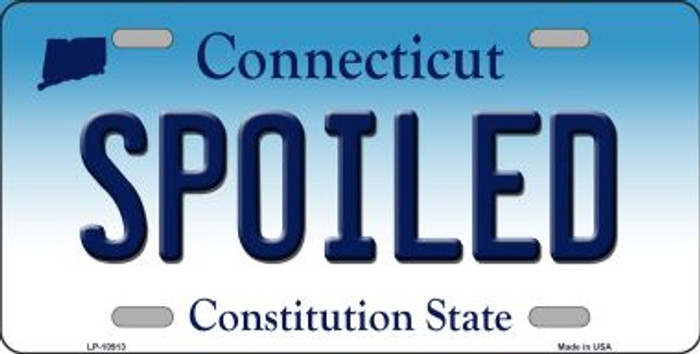 Spoiled Connecticut Novelty Metal Vanity License Plate Tag LP-10913