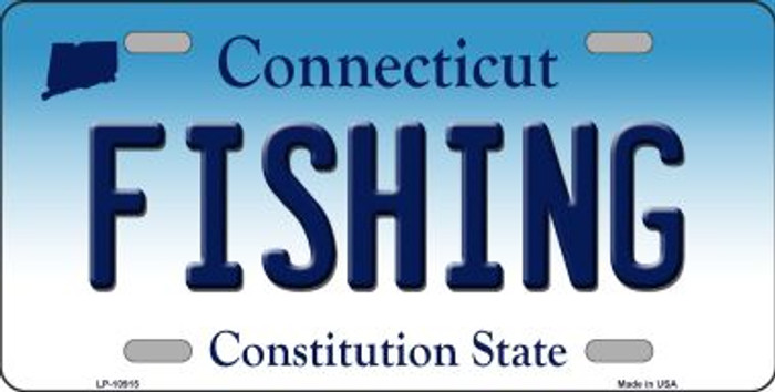 Fishing Connecticut Novelty Metal Vanity License Plate Tag LP-10915