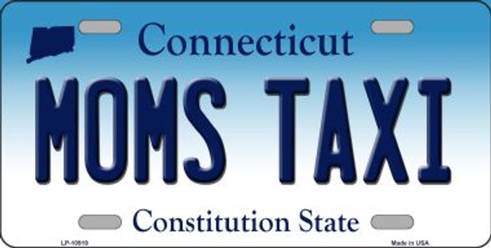 Moms Taxi Connecticut Novelty Metal Vanity License Plate Tag LP-10919
