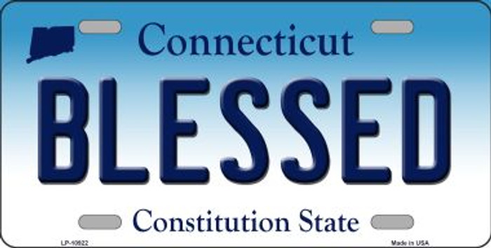 Blessed Connecticut Novelty Metal Vanity License Plate Tag LP-10922