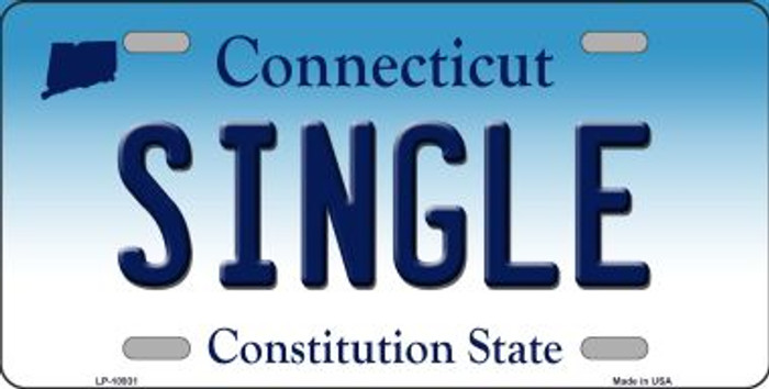 Single Connecticut Novelty Metal Vanity License Plate Tag LP-10931