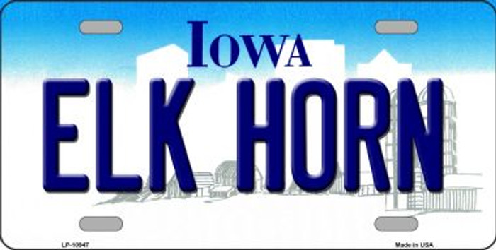 Elk Horn Iowa Novelty Metal Vanity License Plate Tag LP-10947