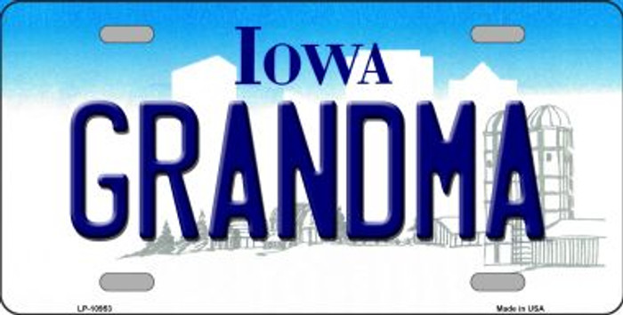 Grandma Iowa Novelty Metal Vanity License Plate Tag LP-10953