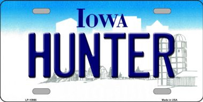 Hunter Iowa Novelty Metal Vanity License Plate Tag LP-10966