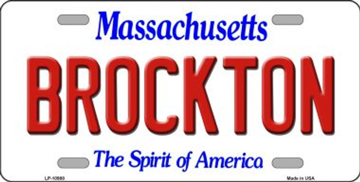 Brockton Massachusetts Novelty Metal Vanity License Plate Tag LP-10988