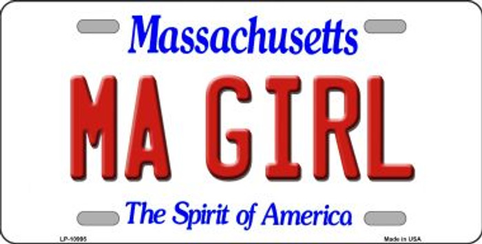 MA Girl Massachusetts Novelty Metal Vanity License Plate Tag LP-10995