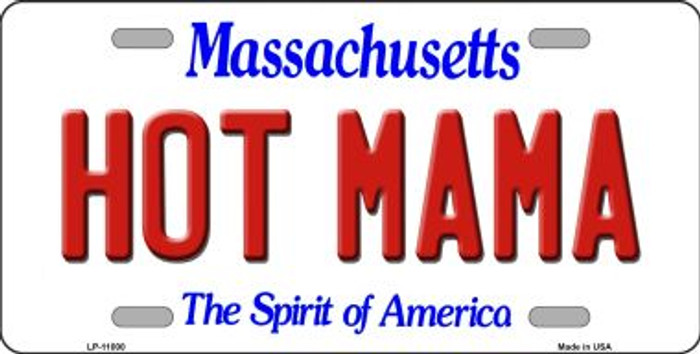 Hot Mama Massachusetts Novelty Metal Vanity License Plate Tag LP-11000