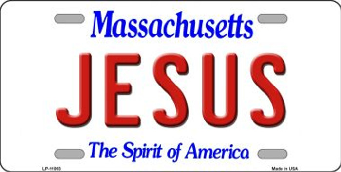 Jesus Massachusetts Novelty Metal Vanity License Plate Tag LP-11003