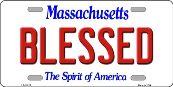 Blessed Massachusetts Novelty Metal Vanity License Plate Tag LP-11011