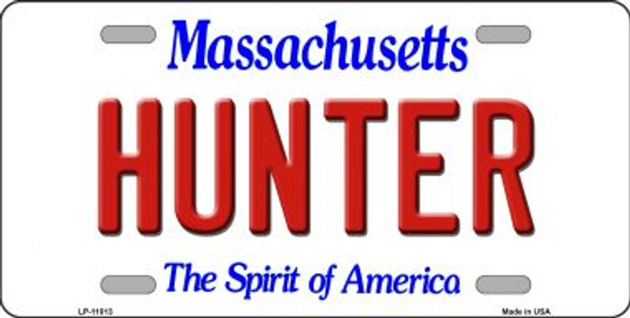 Hunter Massachusetts Novelty Metal Vanity License Plate Tag LP-11013