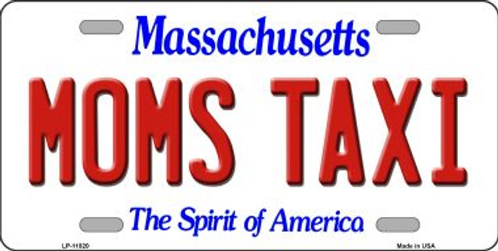 Moms Taxi Massachusetts Novelty Metal Vanity License Plate Tag LP-11020