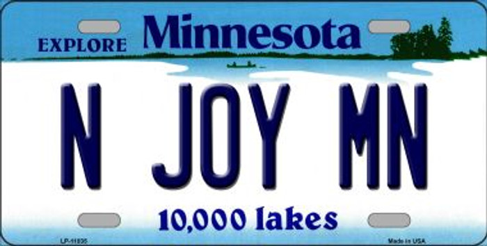 N Joy MN Minnesota Novelty Metal Vanity License Plate Tag LP-11035