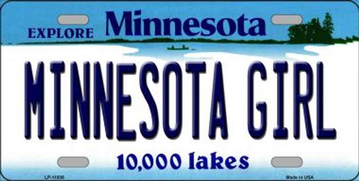 Minnesota Girl Novelty Metal Vanity License Plate Tag LP-11036