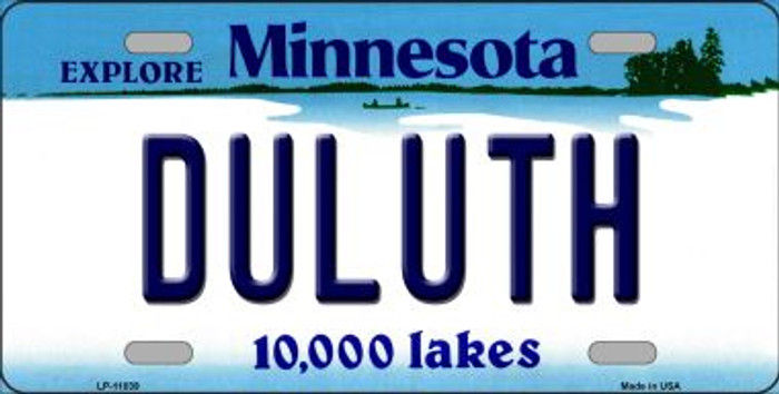 Duluth Minnesota Novelty Metal Vanity License Plate Tag LP-11039