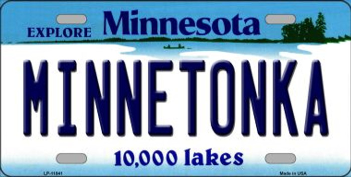 Minnetonka Minnesota Novelty Metal Vanity License Plate Tag LP-11041