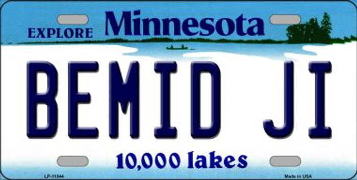 Bemid Ji Minnesota Novelty Metal Vanity License Plate Tag LP-11044