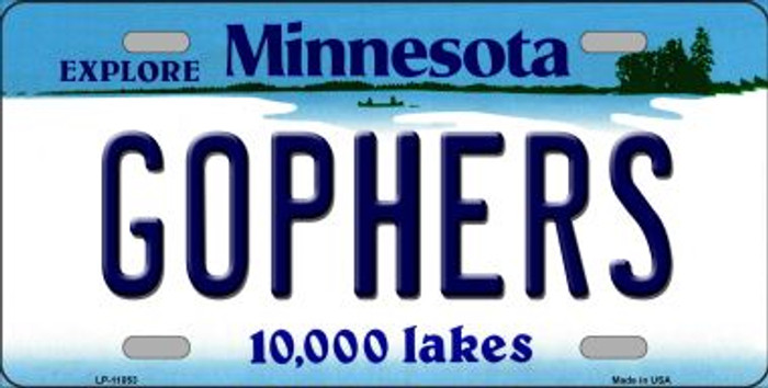 Gophers Minnesota Novelty Metal Vanity License Plate Tag LP-11053