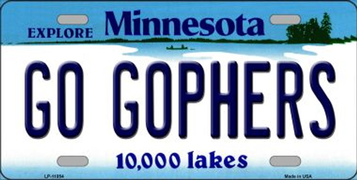 Go Gophers Minnesota Novelty Metal Vanity License Plate Tag LP-11054