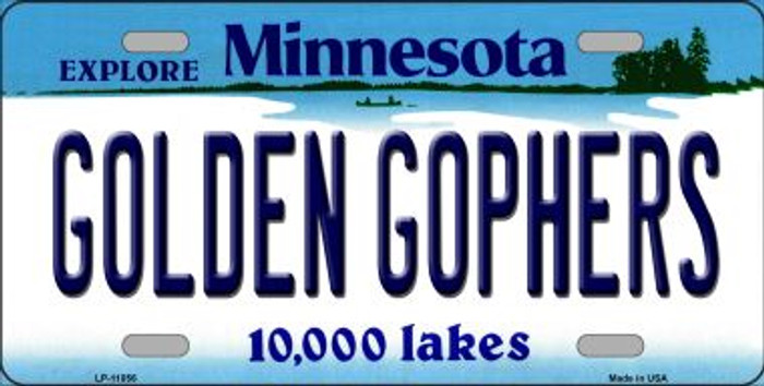 Golden Gophers Minnesota Novelty Metal Vanity License Plate Tag LP-11056