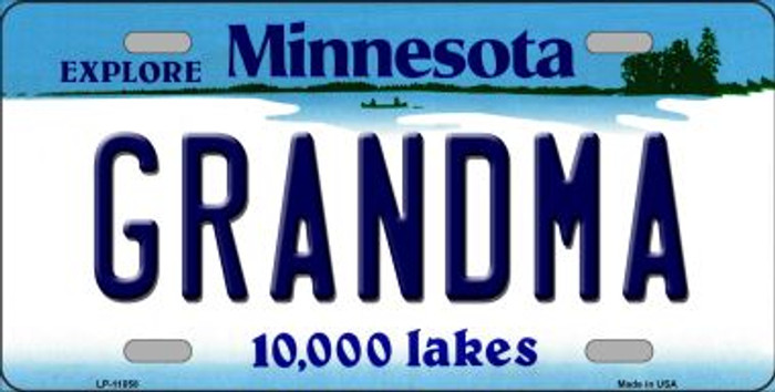 Grandma Minnesota Novelty Metal Vanity License Plate Tag LP-11058